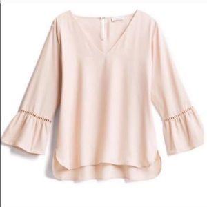 • Calvin Klein • Blush Pink Bell Sleeve Blouse
